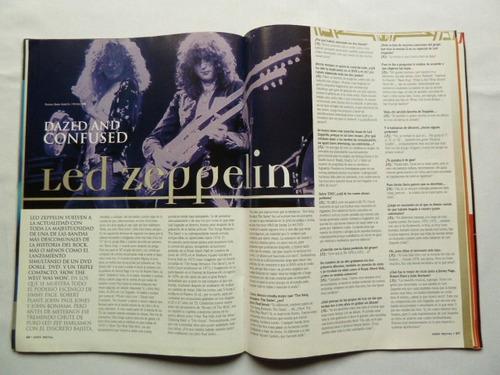 revista very metal queensryche zeppelin incluye posters