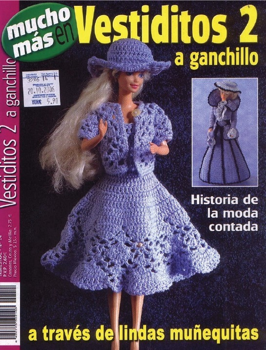 Revista Vestidos 2, A Ganchillo De Barbie Pdf Digital - $ 25,00 en ...