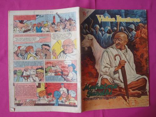 revista vidas ilustres nº 25, mahatma gandhi, ed novaro 1958