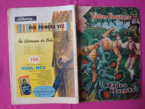 revista vidas ilustres nº 43, tadeo haenké, ed. novaro 1959