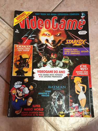 revista videogame 25 star fox batman returns a285