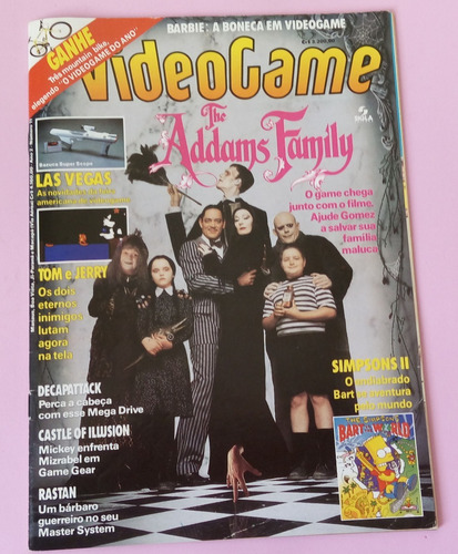 revista videogame nº 11 the addams family simpsons barbie