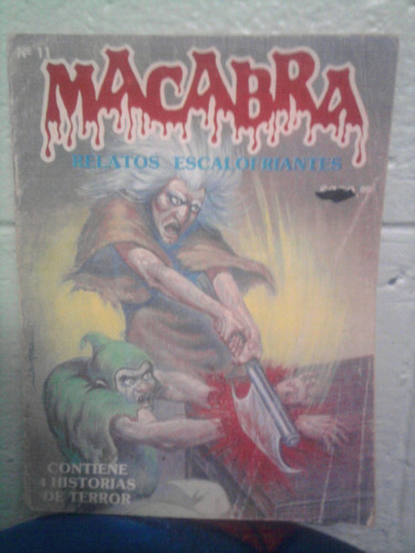 revista vintage macabra n. 11 comics de terror mina 1987