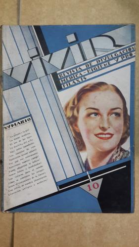 revista vivir, nº 10, divulgación médica, 1938