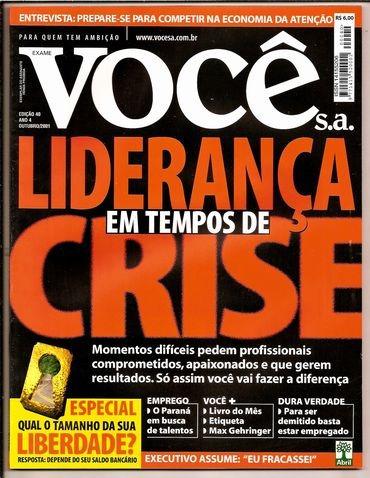 revista você s.a nº 40 - ano out /2001 -ótima -  heroishq