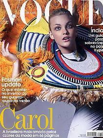 revista vogue 354: carol trentini / fevereiro 2008