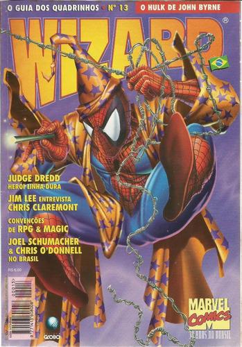 revista wizard 13 - globo - bonellihq cx406 h18