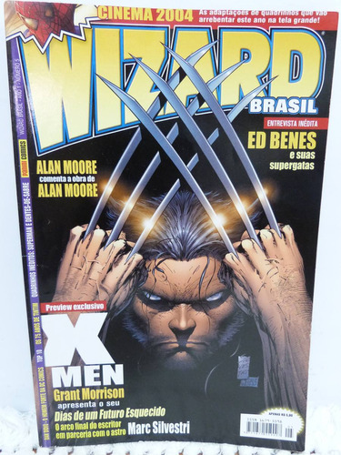 revista wizard hq marvel comics ano 1 nº 5 x-men ed. panini
