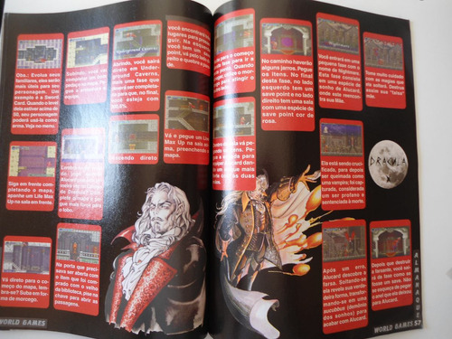 revista world games castlevania e resident evil 1 e 2