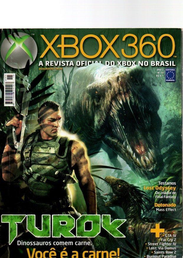 Revista Xbox 360 Turok Análise - Lost Odyssey Naruto  15 - R  24 afcba504e3799