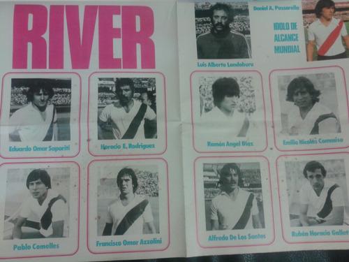 revista y poster river plate campeón 1979