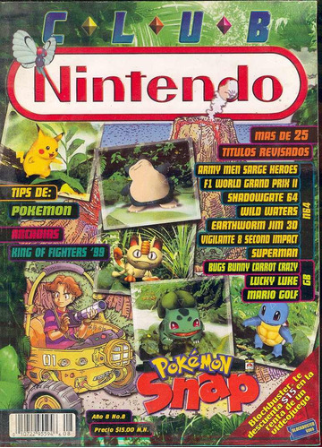 revista/magazine de club nintendo 1999