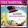 Mega Kit Imprimible Tarjeta De Invitaciones + Regalo (2 X 1)