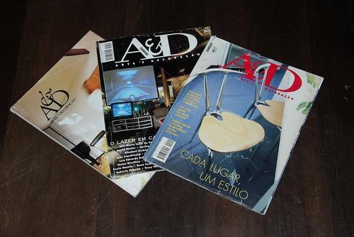 revistas a & d arte e decoração anos 90 lote