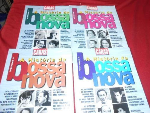 revistas a história da bossa nova caras nºs 1, 2, 3 e 4