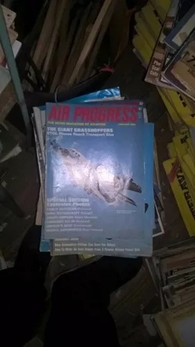 revistas aviacion air progress antiguas lote 60