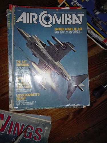 revistas aviación antiguas air combat lote 12