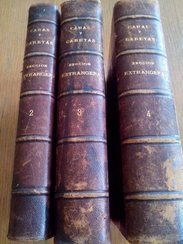 revistas caras y caretas.coleccion de tres tomos.