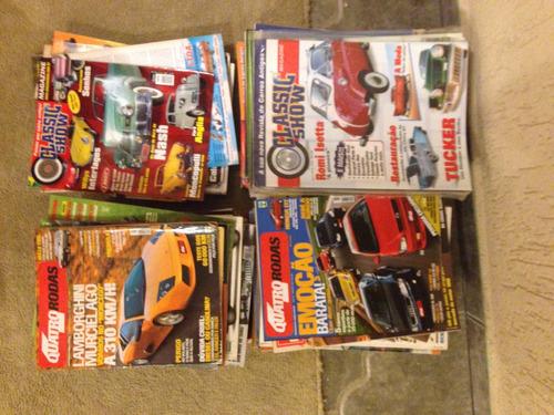 revistas classic show e 4 rodas (limitadas) itens de coleção