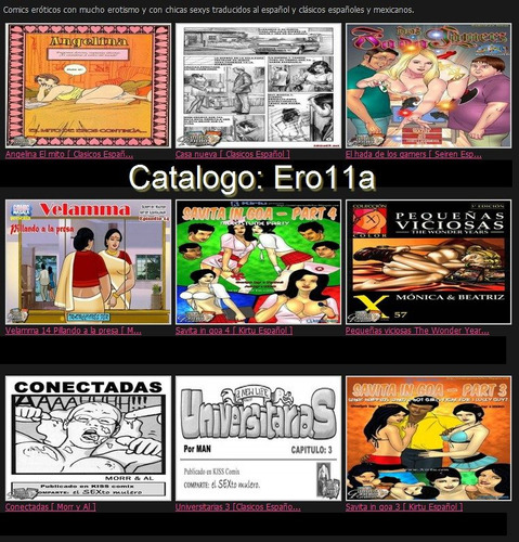 revistas comics xxx porno en español a solo  $2.50 cada una.