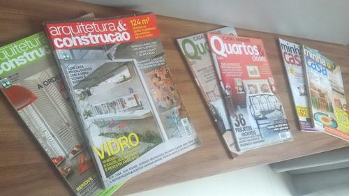 revistas de decoração - pacote com 9 unidades