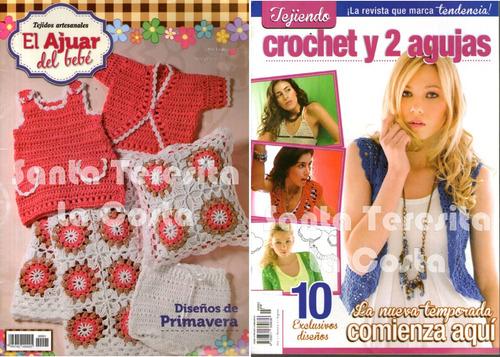 revistas de tejido, crochet lote x 12 - nuevas