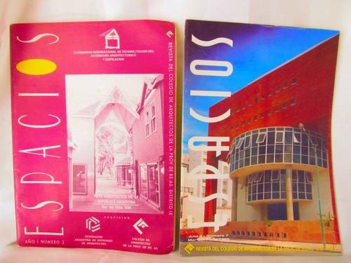 revistas espacios hay dos nros 3 y 7 arquitectura