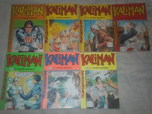 revistas kalimán (años 80s) (en 5 mil cada una), lote 3