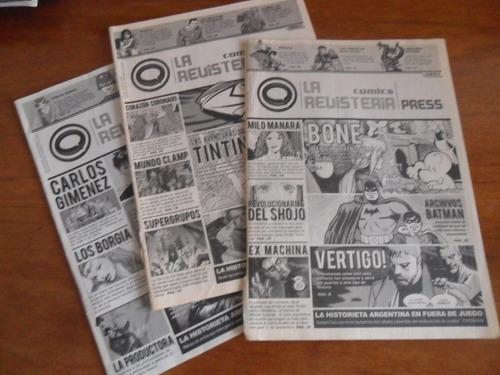 revistas la revisteria comics press lote n°3, 5 y 6 todas x$