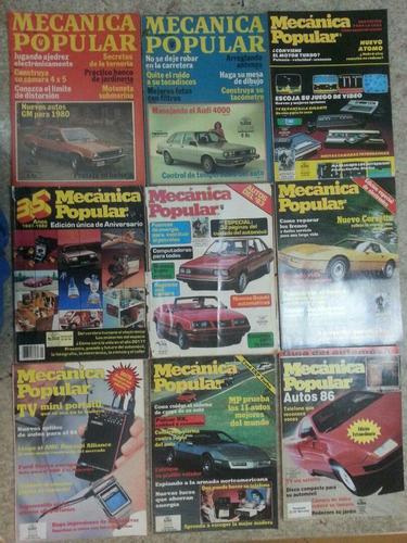 revistas  mecánica popular son 36 tomos , coleccionistas