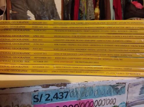 revistas nationa geografic en ingles hasta el año 2013