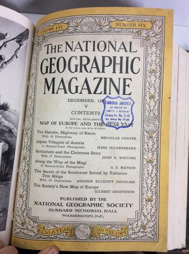 revistas national geographic 1927 1929 1935 en inglés