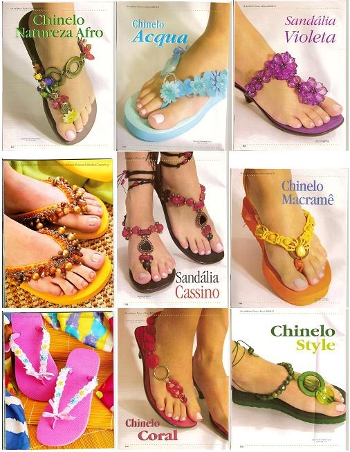 revistas paso a paso para elaborar sandalias decoradas