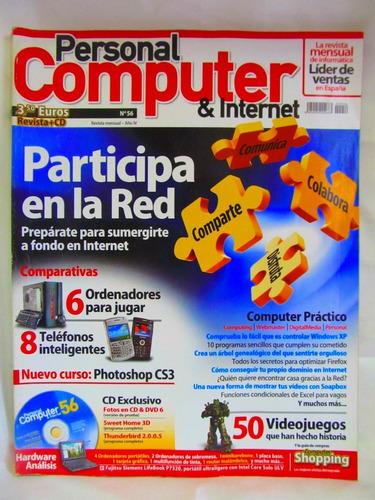 revistas personal computer & internet nro 54 y 56