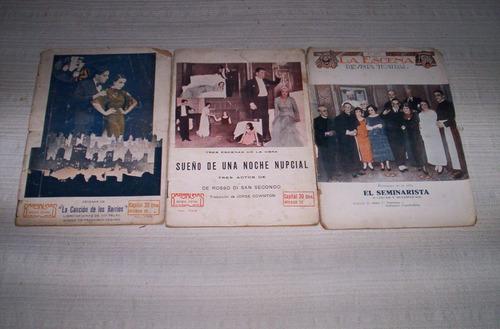 revistas-programas  teatro y musicales.antiguos..