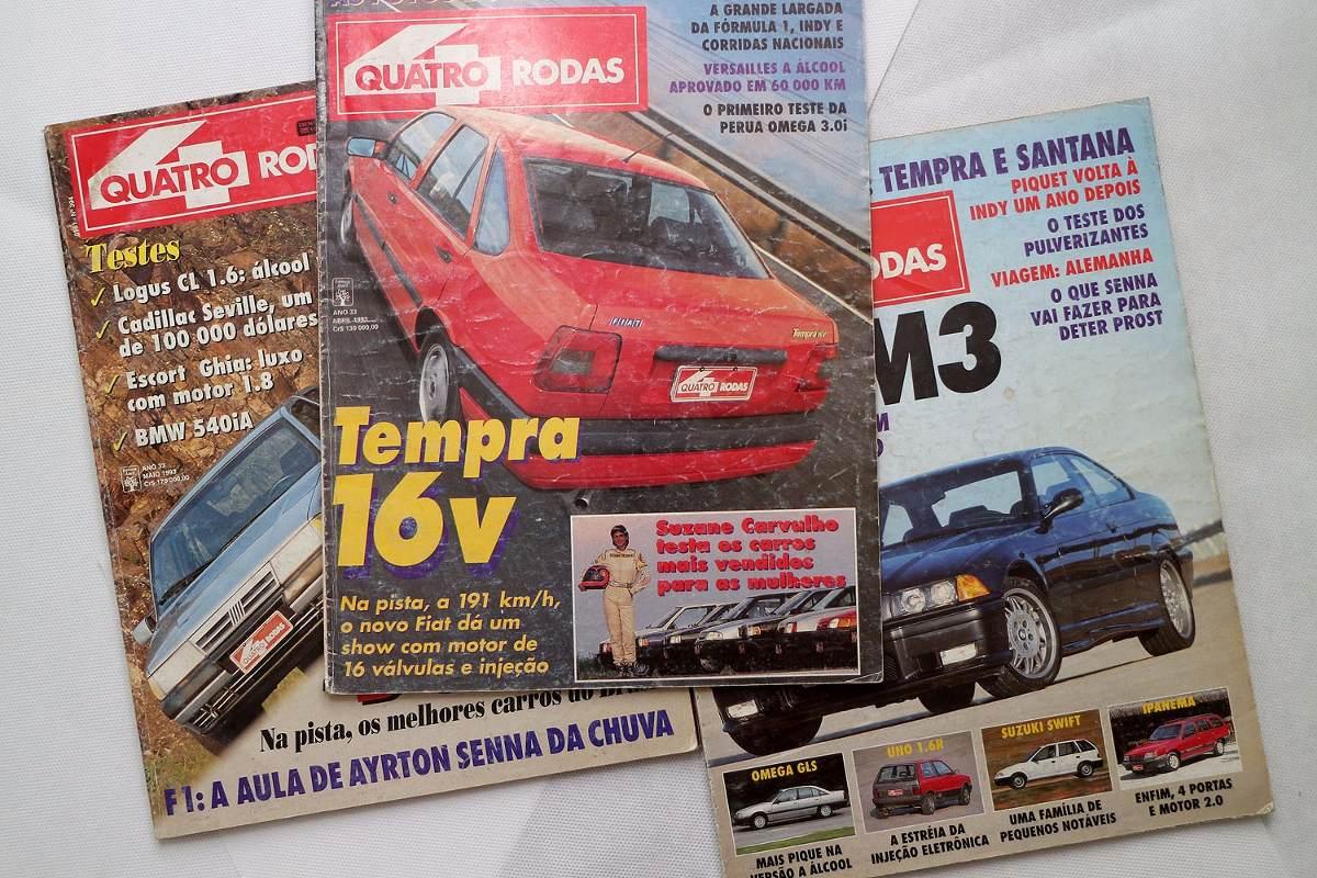 8743b57ccc9b Revistas Quatro Rodas - 1993 - Ayrton Senna + Brinde F1 - R  40