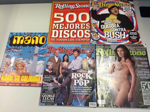 revistas rolling stone / inrrockuptibles / thc / la mano