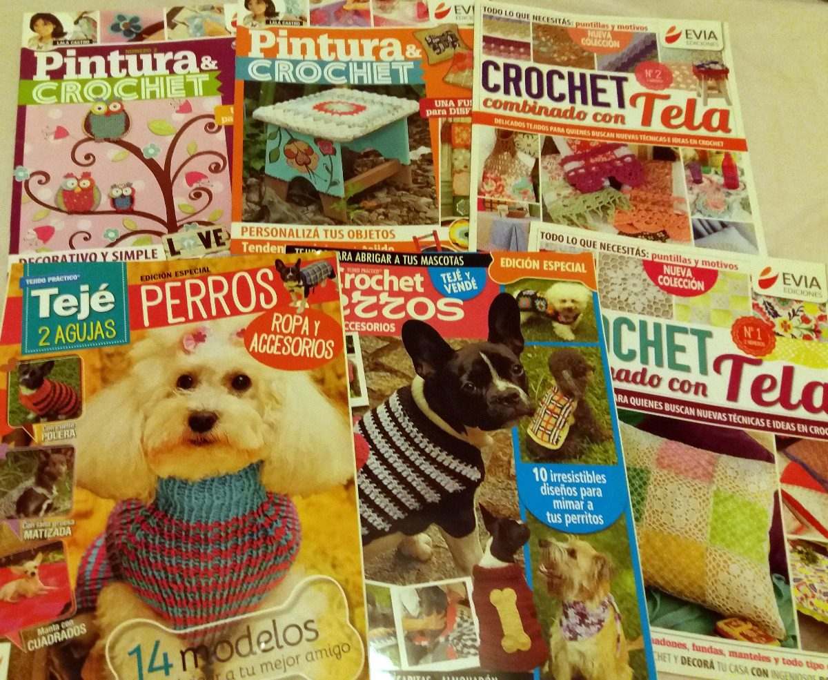 Revistas Tejido Crochet 2 Agujas Evia Bienvenidas - $ 30,00 en ...
