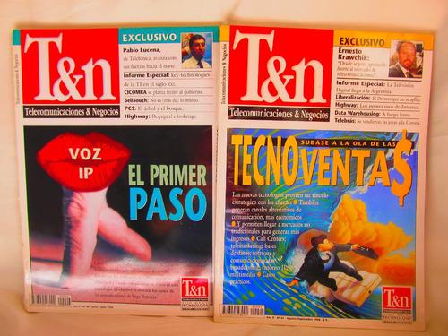 revistas t&n telecomunicaciones y negocios tenemos 8 nros