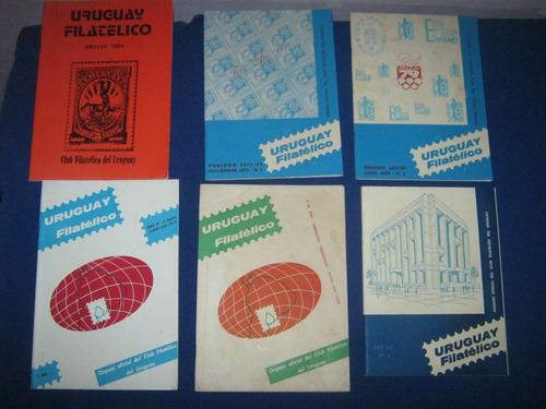 revistas uruguay filatelico lote de 6 filatelia