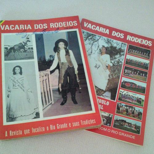 revistas vacaria dos rodeios 1974 e 1980