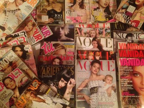 revistas vogue glamour vanidades variedades