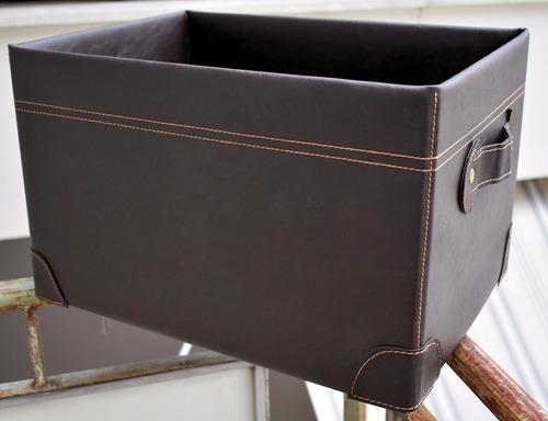 revistero cuero pu cajón plegable contenedor