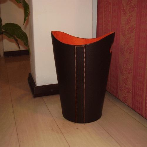 revistero o papelera redonda fabricado en ecocuero.. oferta!