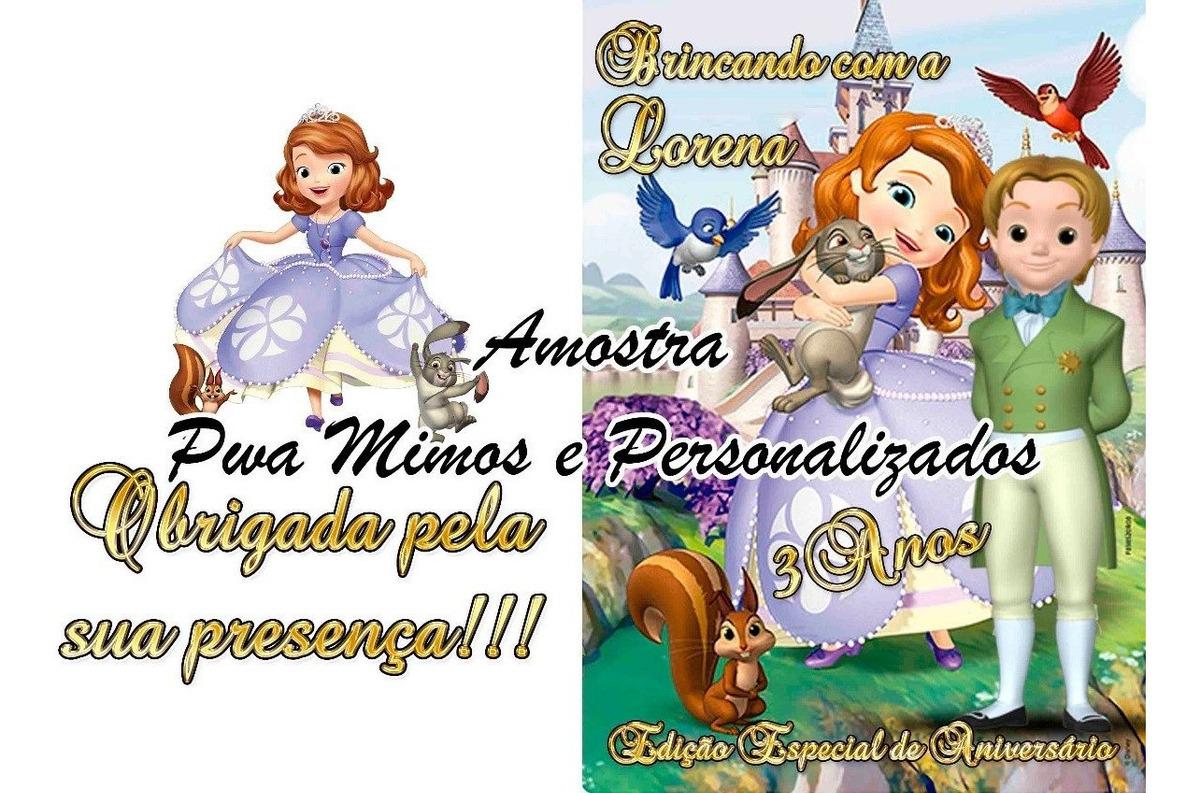 Revistinha E Giz Para Colorir Princesa Sofia 30 Unidades R