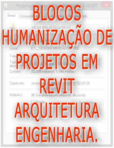 revit autodesk blocos familias humanização de projeto 25 mil