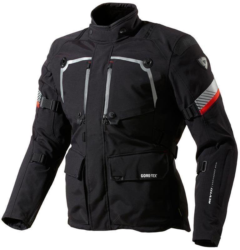 4187e6590b7 Rev it! Chaqueta De Moto Impermeable Negra Para Hombre Pose ...