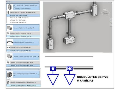 revit projeto elétrico + template completo c/ familias