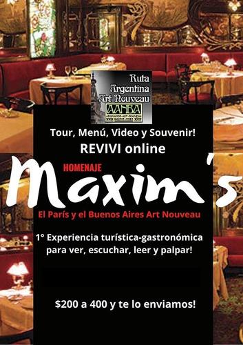 reviví maxim's homenaje parís buenos aires c/ menú  souvenir