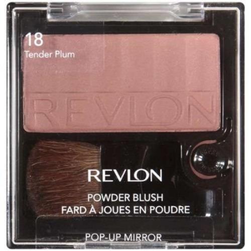 revlon powder blush con pop-up mirror - 18 tender ciruela t